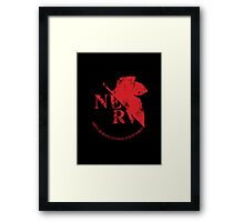 Grunged NERV Framed Print