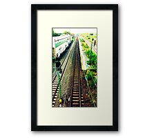 train rail in cologne by palluch atelier Framed Print