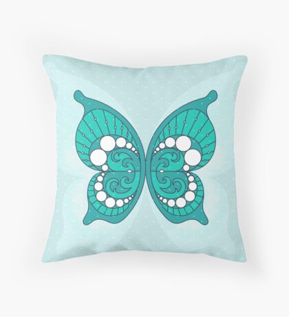 Pearls In Butterfly 2 Throw Pillow