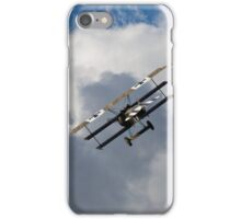 On the tail of a Fokker Triplane iPhone Case/Skin