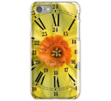 The Power of Petals 2...The Clock! iPhone Case/Skin
