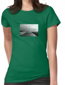Blackpool Beach Wave Breaker Womens Fitted T-Shirt