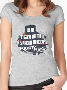 Doctor Who Catchphrases Women's Fitted Scoop T-Shirt