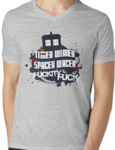 Doctor Who Catchphrases Mens V-Neck T-Shirt