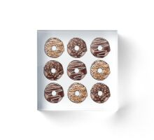 Chocolate Donuts Pattern Acrylic Block