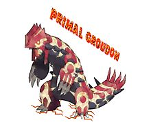 Primal Groudon (Pokemon Omega Ruby) Photographic Print