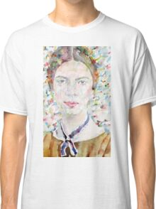 EMILY DICKINSON - watercolor portrait.4 Classic T-Shirt