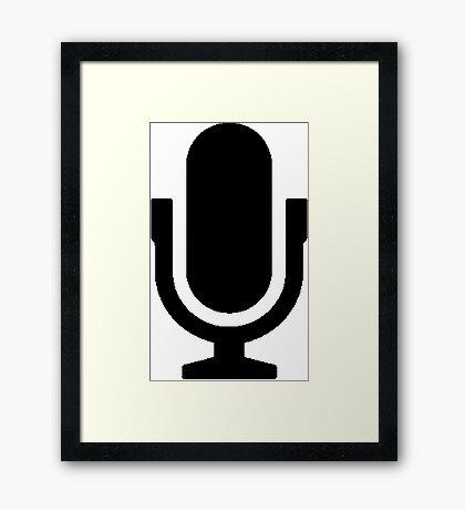 Music Microphone  Framed Print