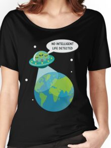 UFO: No Intelligent Life Detected on Earth  Women's Relaxed Fit T-Shirt