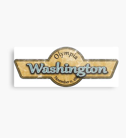 Washington State Logo Metal Print