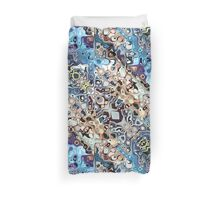 Colorful Chaotic Pattern Duvet Cover