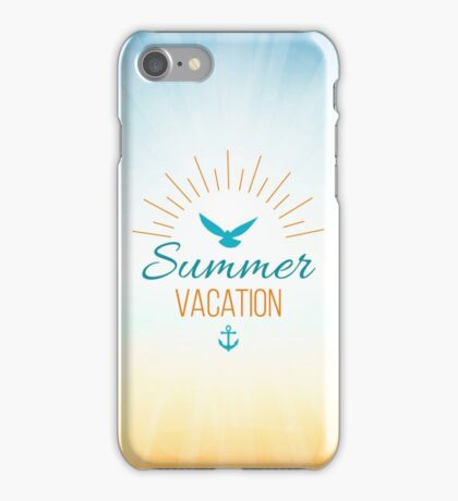 Summer Vacation  iPhone Case/Skin