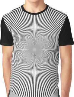 Moirè effect n.2 - psychedelic interference bw  Graphic T-Shirt