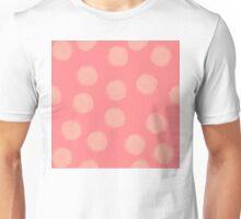 Peaches and Cream Polka Dot Unisex T-Shirt