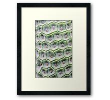 Monstera Tiles Framed Print