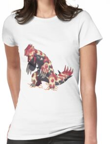 Only Primal Groudon (Pokemon Omega Ruby) Womens Fitted T-Shirt