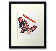 Primal Groudon (Pokemon Omega Ruby) Framed Print