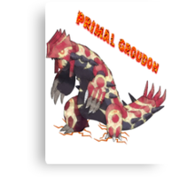 Primal Groudon (Pokemon Omega Ruby) Canvas Print