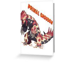 Primal Groudon (Pokemon Omega Ruby) Greeting Card
