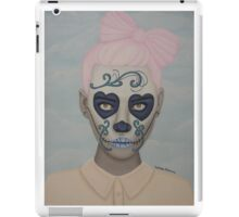 Sugar Skull Girl Pink Hair iPad Case/Skin