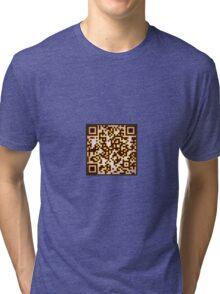 QR Code Tri-blend T-Shirt