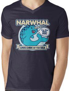 Narwhal Mens V-Neck T-Shirt