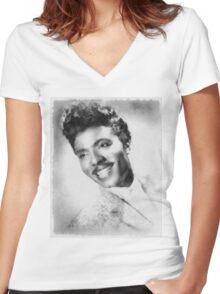 Little Richard, Singer Women's Fitted V-Neck T-Shirt