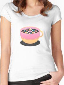 Caffeine T-shirt femme moulant à col profond