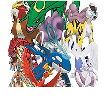 Legendary Pokemon Bed Duvet! King Size (Check Other work for other sizes!) by TomsTops