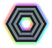 Rainbow Hexagon by averagemailman
