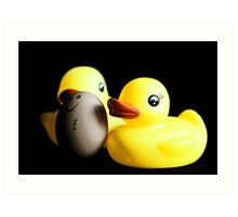 Two Rubber Duckies and One Egg Art Print