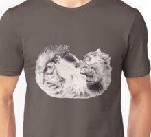 Sleepy Fluffy Kitty Unisex T-Shirt