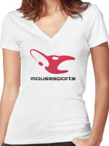 Mousesports! Women's Fitted V-Neck T-Shirt