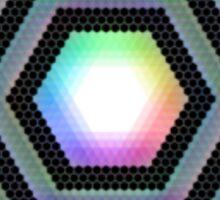 Rainbow Hexagon Sticker