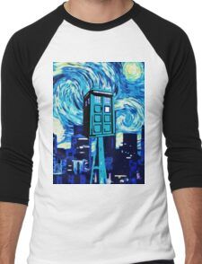 tardis doctor who  Men's Baseball ¾ T-Shirt