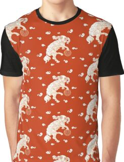 Long Life White Cloud Foo Dog Graphic T-Shirt
