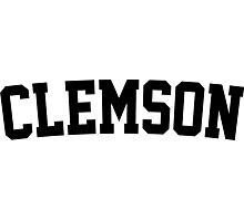 Clemson Jersey Black Photographic Print