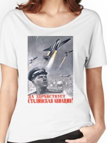 Stalinist propaganda poster Women's Relaxed Fit T-Shirt