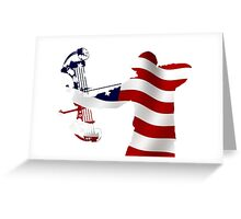 American Bow Hunter Greeting Card