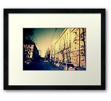 street in Helsinki Framed Print