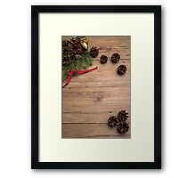 Christmas border design Framed Print