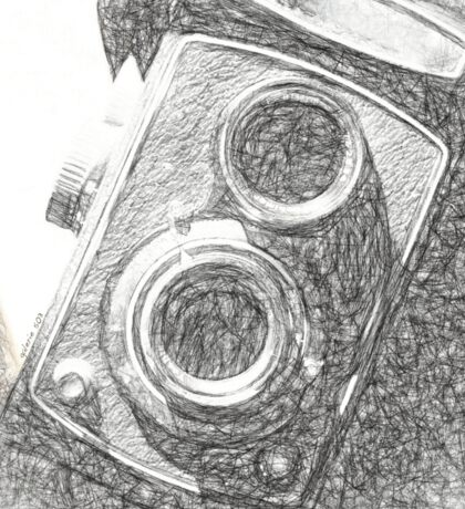 Vintage Camera - Sketch Sticker
