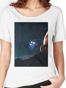 tardis  among planets  Women's Relaxed Fit T-Shirt