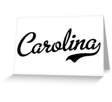 Carolina Script Black Greeting Card