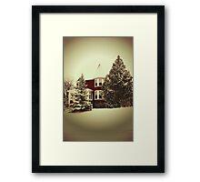 Vintage Style Winter Scene Framed Print
