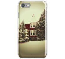 Vintage Style Winter Scene iPhone Case/Skin