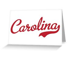 Carolina Script Garnet White Outline Greeting Card