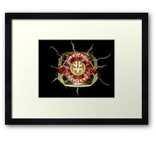 It's Morphin Time - TIGERZORD! Framed Print
