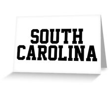 South Carolina Jersey Black Greeting Card