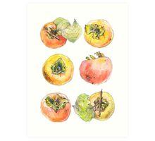 Six Persimmons Art Print